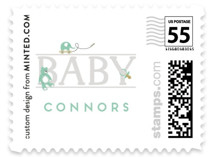 baby serif Baby and Kids Stamps