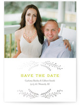 Wanderlust Wreath Foil-Pressed Save The Date Cards