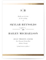 Classic Monogram Foil-Pressed Save The Date Cards