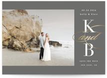 Elegant Initials Foil-Pressed Save The Date Cards