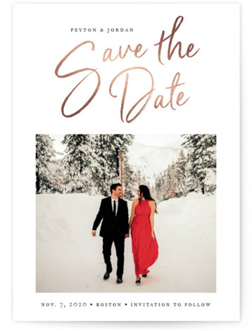 Headliner Foil-Pressed Save The Date Cards