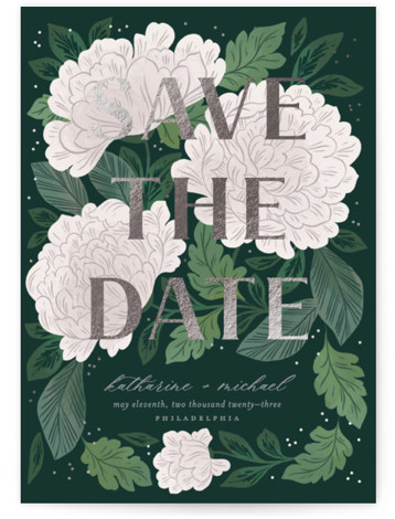 Enchantment Foil-Pressed Save The Date Cards