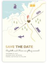 Destination Foil-Pressed Save the Date Cards