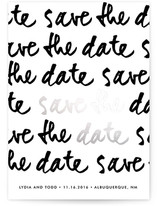 Love Note Foil-Pressed Save The Date Cards