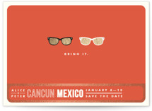 Shades Foil-Pressed Save the Date Cards