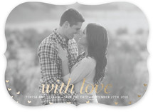 With Love Foil-Pressed Save the Date Cards