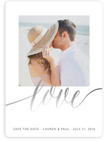A Sparkly Love Foil-Pressed Save the Date Cards