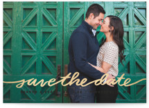 Stringed Foil-Pressed Save The Date Cards