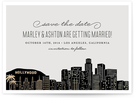 Big City - Los Angeles Foil-Pressed Save the Date Cards