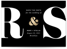 Monogram Foil-Pressed Save The Date Cards