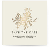 Elegance Illustrated Foil-Pressed Save the Date Cards