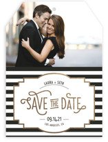 Ascot Chic Foil-Pressed Save The Date Cards
