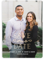 XOXO Foil-Pressed Save The Date Cards