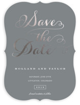 Just Lovely Foil-Pressed Save The Date Cards
