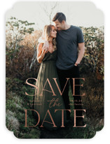 Gilded greeting Foil-Pressed Save The Date Cards