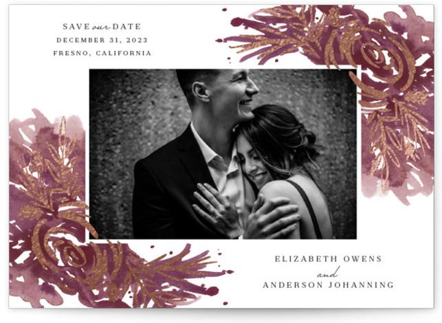 Elegance Foil-Pressed Save The Date Cards