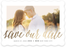 Big News Foil-Pressed Save the Date Cards