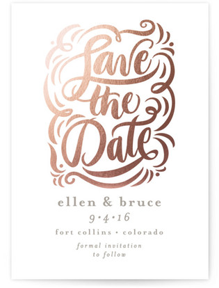 Elegant Affair Foil-Pressed Save the Date Cards