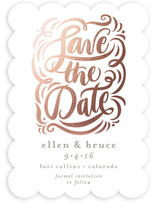 Elegant Affair Foil-Pressed Save The Date Cards