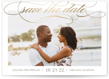 Flourish Foil-Pressed Save The Date Cards