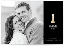New York, New York Foil-Pressed Save The Date Cards