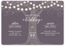 Garden Lights Foil-Pressed Save The Date Cards