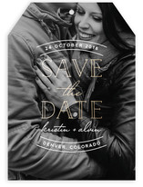 Sweet Embrace Foil-Pressed Save The Date Cards