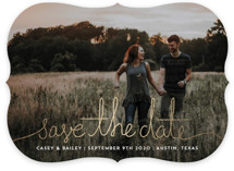 Revelry Foil-Pressed Save The Date Cards