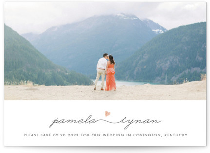 Love Connection Foil-Pressed Save the Date Cards