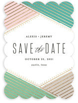 Overlap Foil-Pressed Save The Date Cards