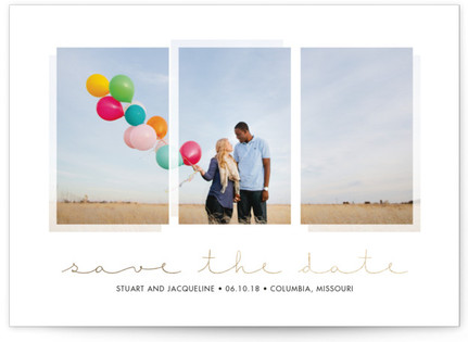 Elegant Simplicity Foil-Pressed Save the Date Cards