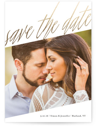 Up & Up Foil-Pressed Save the Date Cards