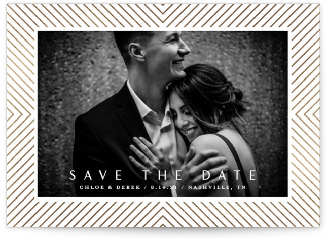 Bright Lights Foil-Pressed Save The Date Cards