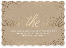 Starlight Foil-Pressed Save The Date Cards