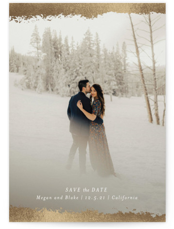 Veiled Foil-Pressed Save The Date Cards