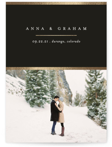 Etch Foil-Pressed Save The Date Cards