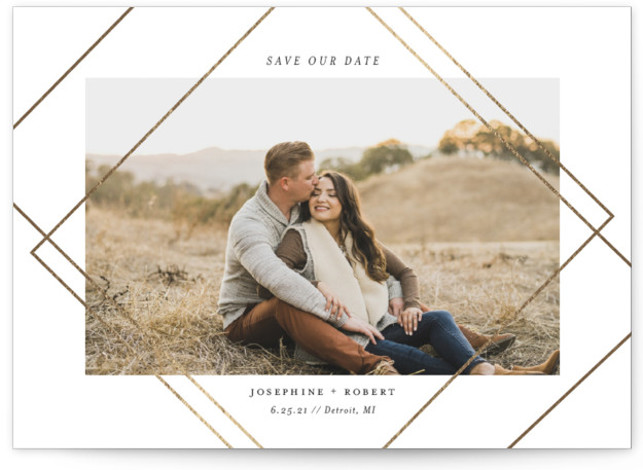 Intersect Foil-Pressed Save The Date Cards