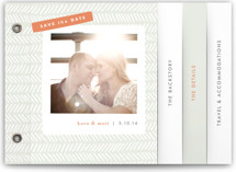 Herringbone Save the Date Minibook™ Cards