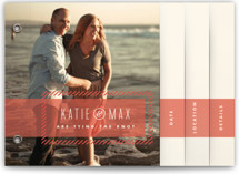 Striped Banner Save the Date Minibook™ Cards