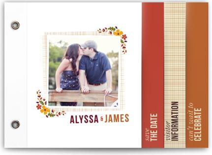 Autumn Blossoms Save The Date Minibooks