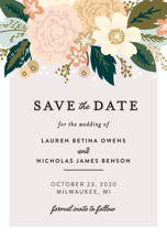 Classic Floral Save the Date Petite Cards