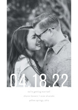 Date Check Save the Date Petite Cards
