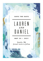 Abstract Art Save the Date Petite Cards