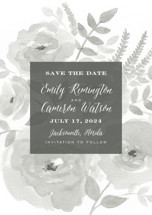 Watercolor Floral Save the Date Petite Cards