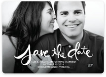 Hand-Lettered Save The Date Magnets