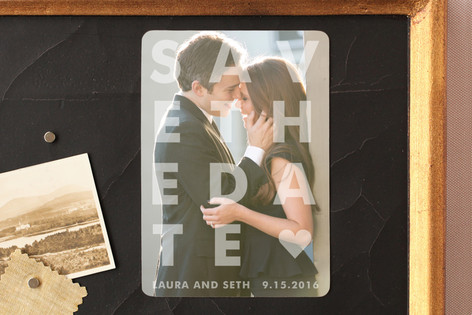 Etched Save The Date Magnets