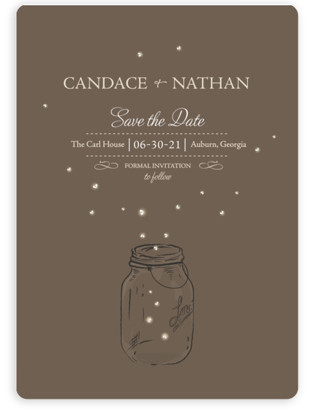 Fireflies Save the Date Magnets