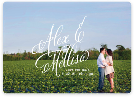 Timeless Bold Typography Save the Date Magnets