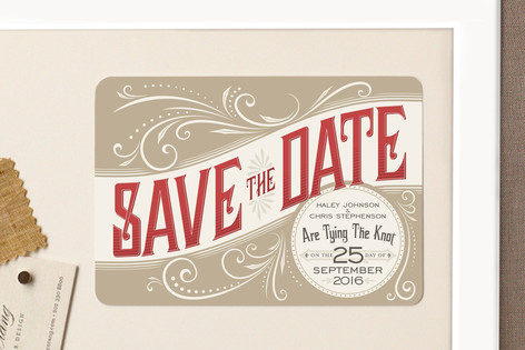 Good Ol' Fashion Love Save The Date Magnets