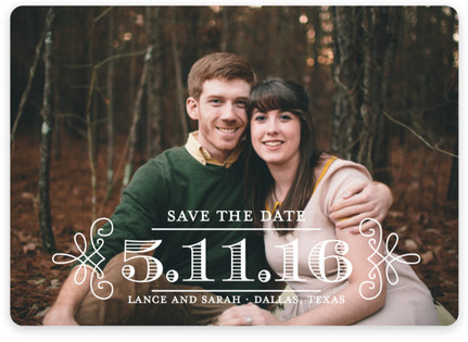 Embellished Save the Date Magnets